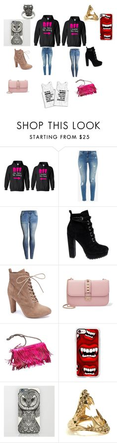 """Me and my Besty"" by taco-lambert ❤ liked on Polyvore featuring Ted Baker, Daya, Wild Diva, Valentino, Rebecca Minkoff, Casetify, Kasun and City Style"
