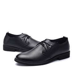 talian Style Spring/Autumn Luxury Men's Black Genuine Leather Pointed Toe Dress Business Brand Oxfords Shoes For Men