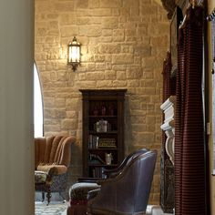 Living Room Stone Wall Design Ideas, Pictures, Remodel, and Decor
