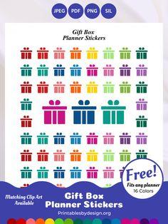 Planner Sticker Categories – Printables by Design Free Planner Pages, Happy Planner, Printable Planner Stickers, Printables, Christmas Tree Clipart, Arc Planner, Planner Organization, Sticker Paper, Clip Art