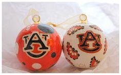 cutie pie Auburn Christmas ornaments