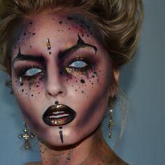Devil inspired Halloween makeup …