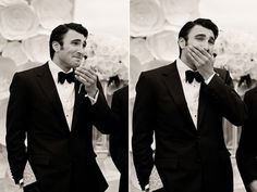 22 pictures of the expressions of grooms when they see their wife to be for the first time in her wedding dress...