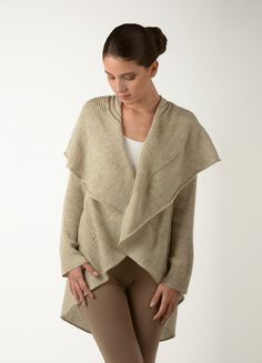 Open-front cardigan from 100% Baby Alpaca - great addition to any outfit when the temperatures start dropping  , 100% Baby Alpaca