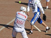 """Pesäpallo is a combination of traditional ball-batting team games and North American baseball. The game was first developed by Lauri """"Tahko"""" Pihkala in the 1920's. Pesäpallo is considered the national sport of Finland, although the most popular sports in terms of spectator interest are ice hockey, athletics, cross-country skiing, ski jumping and Formula One. Pesäpallo is gaining popularity in Australia & N.Ontario,Canada due to a high Finnish and Scandinavian population."""