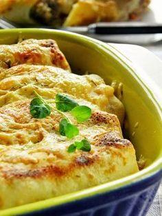 Sio-smutki: Zapiekane naleśniki z kurczakiem, serem i rozmaryn...