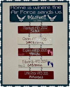 Home is where the Air Force sends us. www.facebook.com/sassyfrassycrafty