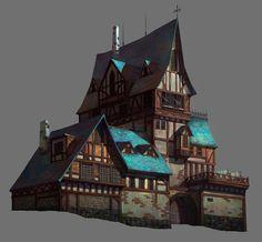 Medieval House, Jin woo Choi on ArtStation at https://www.artstation.com/artwork/GKb5z