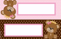 topper or label Baby Shower Parties, Baby Shower Themes, Shower Party, First Birthday Party Decorations, First Birthday Parties, Imprimibles Gratis Baby Shower, Teddy Bear Party, Candy Bar Labels, Baby Shawer