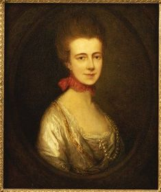 """This portrait displays a woman flaunting the """"red around the head"""" trend"""