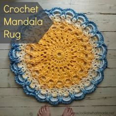 Crochet Mandala Rug Lookatwhatimade 300x300 Greatest Hits 2014