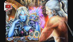 Sylvanas vs Geralt, Blondynki Też Grają on ArtStation at https://www.artstation.com/artwork/bdKkg