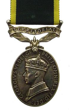British: Efficiency Medal (Territorial) -  this medal had been awarded to Lt. R O Haywood, Royal Army Pay Corps