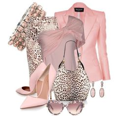 Summer Fashion Tips Pink Top Jacket and Pumps Animal Print Skirt and Purse.Summer Fashion Tips Pink Top Jacket and Pumps Animal Print Skirt and Purse. Classy Outfits, Chic Outfits, Fall Outfits, Pink Outfits, Dress Outfits, Fashion Looks, Work Fashion, Mode Ootd, Animal Print Skirt