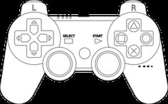 ps 3 controller template... I may try to make a customised sticker or skin for my controller.