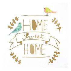 MIMI'lou Home Sweet Home Sticker Gold