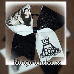 Www.blingonthebows.com  $14 #blingonthebows #cheerleader #bows #cheerleading #fiercecheerbows #cheergear #fob