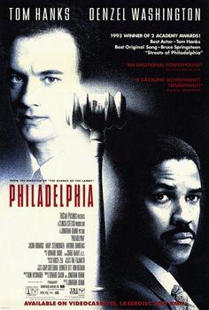"""Philadelphia"" - One of Tom Hank's very best and also Denzel Washington."