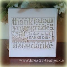 Der Kreativtempel: Kleines Dankeschön für liebe Menschen.
