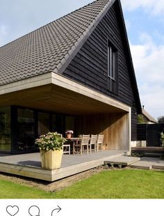 Similar to the overhang deck of Enough House Architecture Details, Interior Architecture, A Frame House, House Extensions, Facade House, Residential Architecture, House In The Woods, Home Fashion, Exterior Design