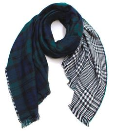 Blanket Scarf Plaid Reversible | THE LUCKY KNOT