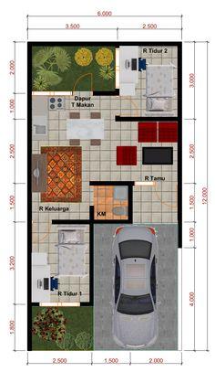 Desain Rumah Minimalis Perumahan Griya Mas Sidoarjo. DENAH Type 40. http://goo.gl/AhwIY6