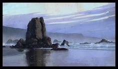 Southern Oregon Coast, Florian Malchow on ArtStation at https://www.artstation.com/artwork/southern-oregon-coast