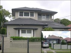 Similar base home with front balcony on second storey (westaway home extensions)