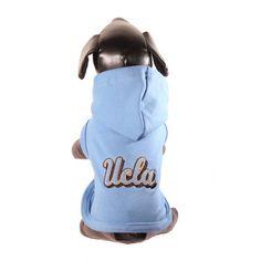 NCAA UCLA Bruins Cotton Lycra Hooded Dog Shirt, Medium Blue/Gold - http://www.thepuppy.org/ncaa-ucla-bruins-cotton-lycra-hooded-dog-shirt-medium-bluegold/
