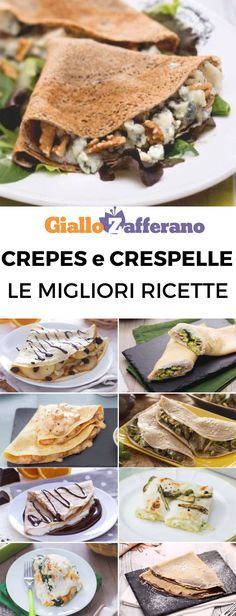 Crepes e crespelle: scopri 10 ricette facili e veloci da portare in tavola! #crepes #crespelle #secondi #piatti #homemade #recipe #easy #quick #facili #veloci #ricette #sunday #family [10 easy stuffed crepes recipes] Crepe Recipes, Pasta Recipes, Crepes And Waffles, Food C, World Recipes, Creative Food, I Love Food, Cooking Time, Italian Recipes