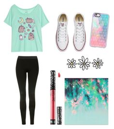 """Favorite #1"" by ay0ava on Polyvore featuring Converse, Casetify, Kat Von D and Topshop"