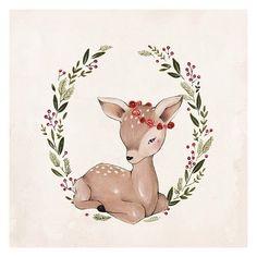Kelli Murray Рождественский олень. Нарисовать красками