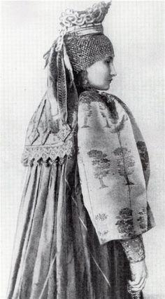 Russian folk wedding suit