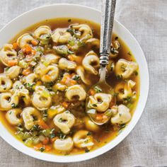 Try this soup that comes together in minutes, thanks to the use of purchased tortellini. Infusing broth is an easy way to get flavor without fuss.