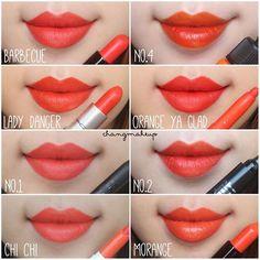orange lipstick comparison