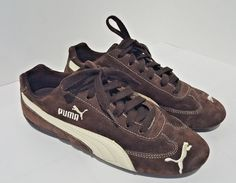f1c1707d6c6a PUMA Fast Cat Women s Shoes Sneakers Brown Suede Leather Size 7