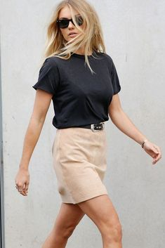 Spring fashion - ENA PELLY SUEDE MINI SKIRT IN CAMEL This classic suede mini skirt is made from the softest suede. Lined with satin. Designed in Australia. #springsummer2017 #springstyle #springfashion