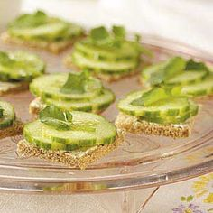 Tea Party Cucumber Sandwiches Recipe from Taste of Home -- shared by Chuck Hinz of Parma, Ohio :: http://pinterest.com/taste_of_home/