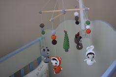 Baby mobile Woodland animals Crochet baby crib от UAmadeForYou