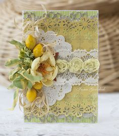 Hobby and Life: Lemon Card Lemon Crafts, Shabby Chic Cards, Wedding Anniversary Cards, Marianne Design, Fall Cards, Christmas Cards, Pretty Cards, Card Tags, Creative Cards