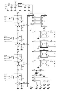 A four channel (I/O) Bluetooth interface controlled by an Android app - Open Electronics Electronics Basics, Electronics Components, Electronics Projects, Bluetooth Gadgets, Bluetooth Remote, Circuit Projects, Arduino Projects, Pic Microcontroller, Electrical Circuit Diagram