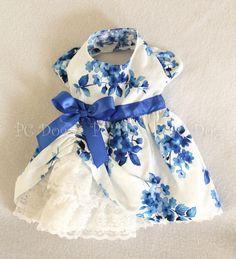 Blue Flowers Party Dress