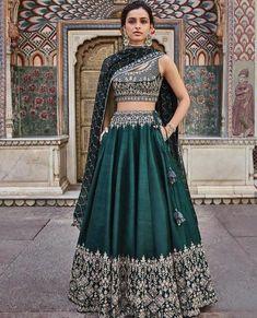 Designer green lehenga choli for women party wear Bollywood lengha sari,Indian wedding wear embroidered lehenga with dupatta Green Lehenga, Indian Lehenga, Green Sari, Ghagra Choli, Bridal Lehenga Choli, Silk Lehenga, Bollywood Lehenga, Bollywood Fashion, Anarkali