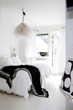 Monochrome bedroom.
