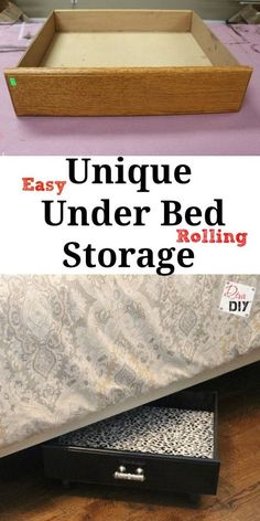 Easy DIY under the bed rolling storage! Upcycle old dresser drawers and create extra bedroom storage! Rolling Storage | Bedroom Storage Solutions | Cheap Storarage Ideas