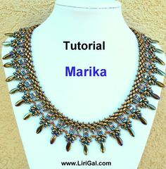Create your own, super-elegant necklace ! Use the colors you like, make it special! You will need:Czech SuperDuo two-hole beads, Dagger beads,Czech fire polished beads, round seed beads 8/0,11/0, 15/0, lobster clasp, Skill Level: Beginners – Intermediate This tutorial needs to have some