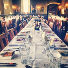 Banquet style wedding breakfast at The Battleaxes