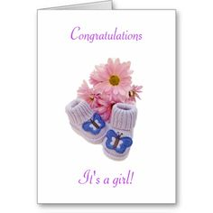 Congrats It's a Girl Love You, My Love, Custom Greeting Cards, Thoughtful Gifts, Congratulations, Prints, Color, Te Amo, Je T'aime