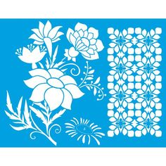 Stencil Litoarte – PalacioDaArte Stencils, Haberdashery, Flowers, Templates, Stenciling, Painting Stencils, Sketches