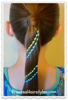 Carousel braid (waterfall ribbon twist)